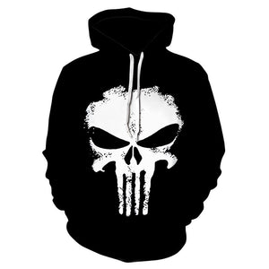 Punisher Hoodies Women Men 3D Sweatshirts Superhero Pullover Novelty Tracksuit Fashion Hoodedeosegal-eosegal