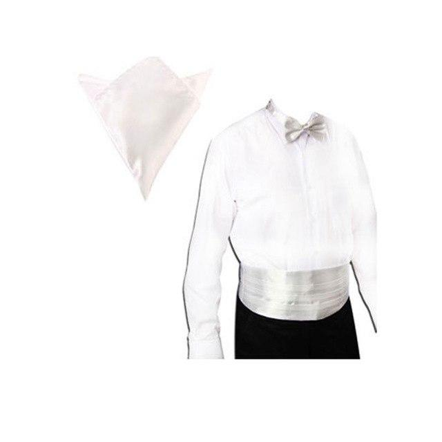Satin Tuxedo Cummerbund+Bow Tie +Hanky Set Prom Wedding Deep 20 Colorseosegal-eosegal