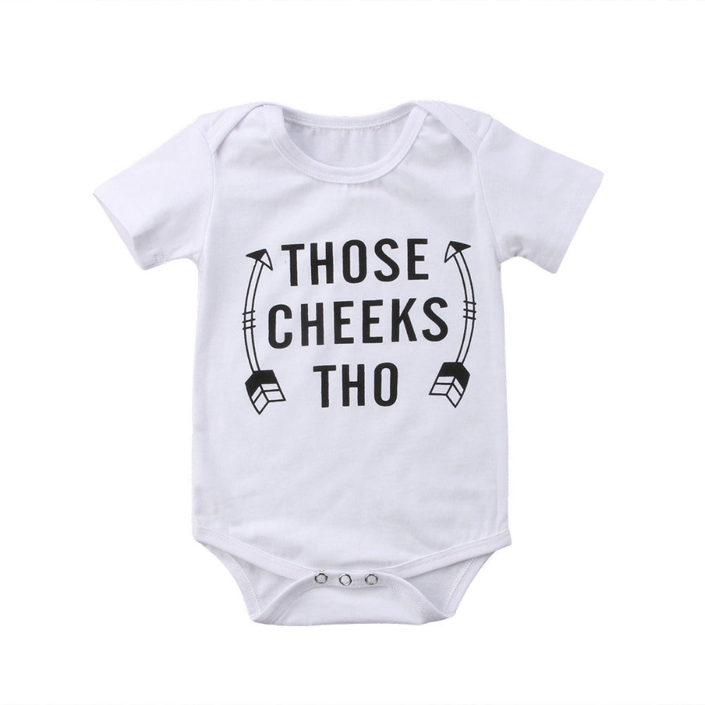 Casual Arrow Romper Infant Newborn Baby Girl Boy Short Sleeve Sunsuit Outfits-eosegal