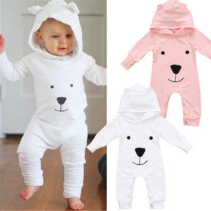 2017 Newborn Infant Baby Girl Boy Clothes Cute 3D Ear Hooded Romper Jumpsuit Playsuit Autumn Winter Warm Bebes Rompers One Piece-eosegal
