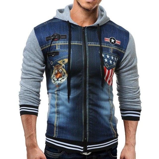 Wholesale Price Men Hoodies 2018 Fashion Brand Sweatshirts Tiger Printed 3D Hoodieseosegal-eosegal