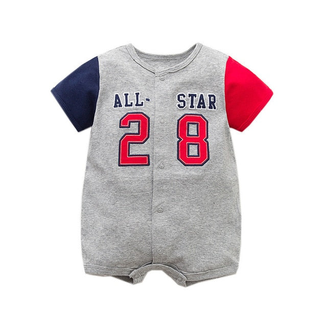 Baby Romper New Fashion Cartoon Short Sleeve Baby Girl Boy Clothes Summer Baby Costume 100% Cotton Newborn Infant Jumpsuits 6-24-eosegal