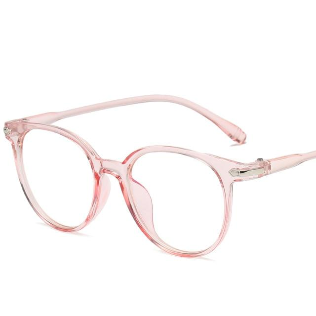 New Women's Round Anti-Blue Glasses Anti-radiation Eyeglasses Transparent Retro Vintage Glasseseosegal-eosegal