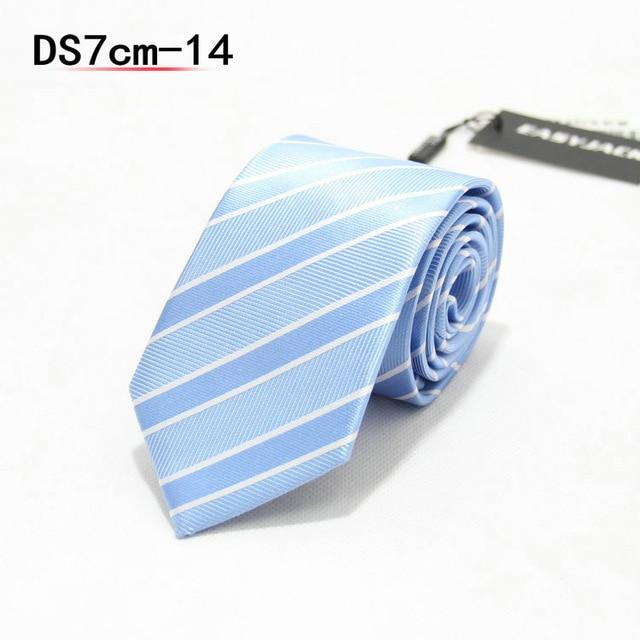 Jacquard Stripe Yellow Plaid Pink Skinny Ties for Men Wedding Tie Slimeosegal-eosegal