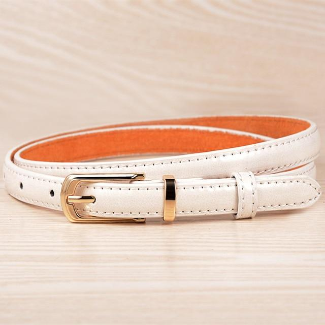 Fashion Rushed Hot Sale Adult Paint Leather Belts For Women Dress 2018 High Quality Female Pinceis Belt Thin Skinny Waist J208-eosegal