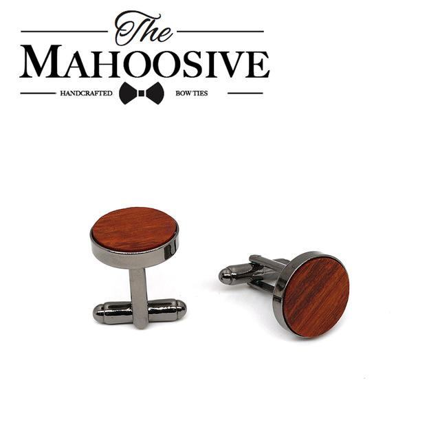 Mahoosive Classical men's new Red Rosewood Wooden Cufflinks French wedding dress shirteosegal-eosegal