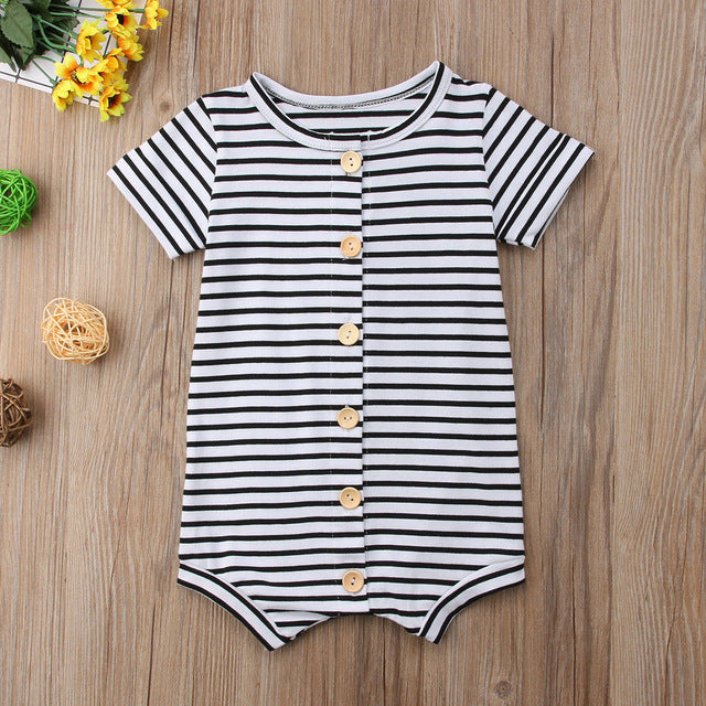 2018 Brand New Newborn Toddler Infant Baby Boys Girl Casual Romper Jumpsuit Cotton Short Sleeve Clothes Summer Sunsuit Outfits-eosegal