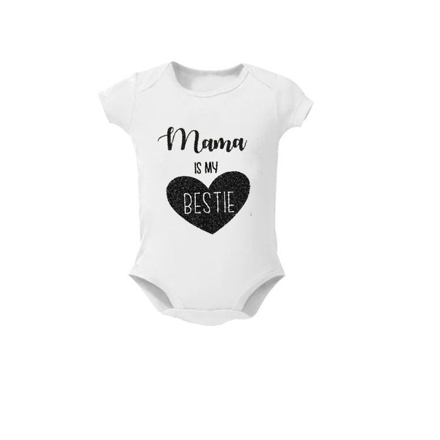 Baby Clothes Summer Unisex New born Boy Girl Funny Short Sleeve Cotton Baby Bodysuit Aunt Uncle Grandma Sorry Lady My Daddy Is T-eosegal