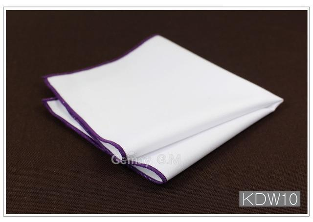 Fashion Cotton Handkerchiefs White Hanky Solid Pocket Square Mens Casual Suit Squareeosegal-eosegal