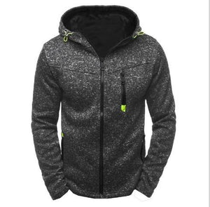 Winter Fleece Jacket Men Warm Hooded Coat Mens Long Sleeve Solid Casualeosegal-eosegal