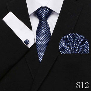 Fashion Pocket Square Classic Party Wedding striped 7.5cm Silk Wedding Menseosegal-eosegal