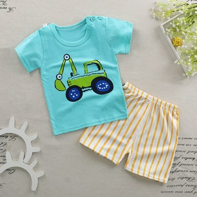 Baby Girls Boy Clothes Outfit Set Summer 2018 Baby Sets Infant Girl Clothing Suits Short Sleeve Cotton Baby Children Boys Suit-eosegal