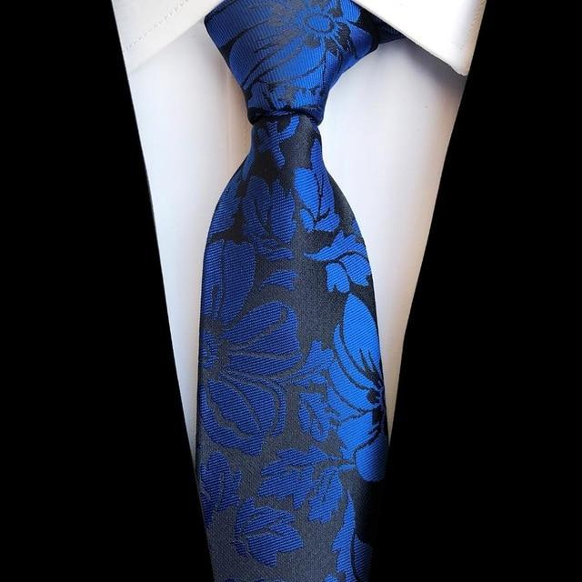 New Design 8cm Jacquard Silk Necktie for Mens Business Gravatas Normaleosegal-eosegal