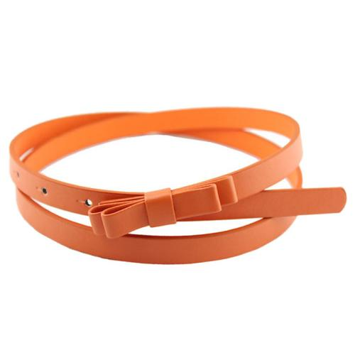 Amazing New Fashion Candy Color Women PU Leather Casual Thin Belt Cummerbund For Gril Women-eosegal