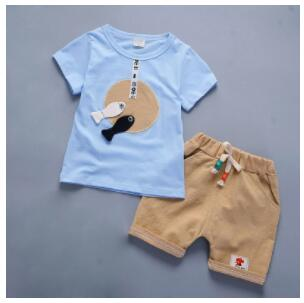 BibiCola baby boys summer clothing sets kids cartoon tops+pants 2PCS casual clothes boys tracksuit for toddler boys clothing-eosegal