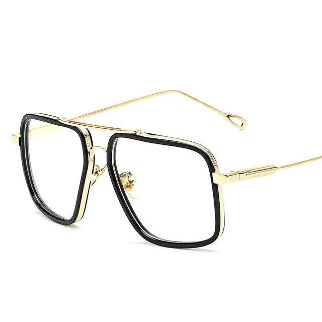2018 Brand Vintage Optical Prescription Clear Lens Glasses Frame Oversized Gold Frameseosegal-eosegal
