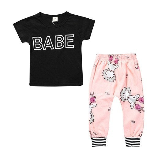 TZ-280 New summer cotton children's clothing boys short sleeve baby girl clothes newborn clothes suit baby clothes for boy 2018-eosegal