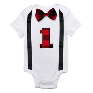 Newborn Baby Boy Clothes White Baby Rompers Jumpsuit Suspenders Bow Tie Little Gentleman Suits First Birthday Outfit Boy Romper-eosegal