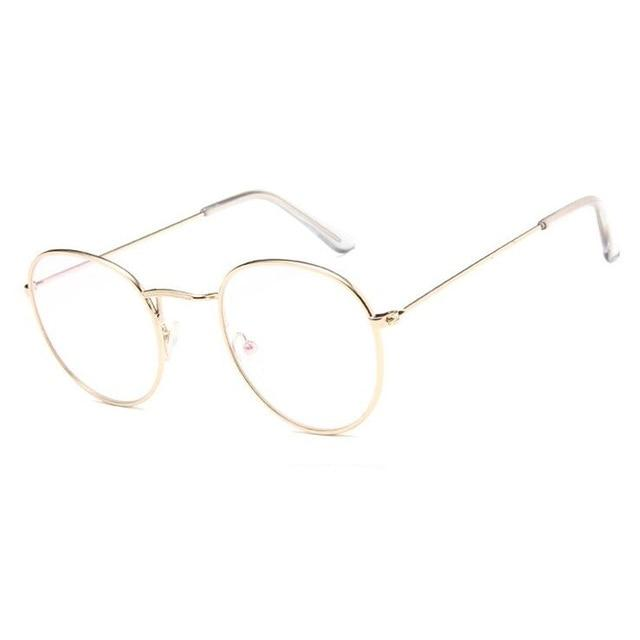 Vintage 3447 Style Metal Eyeglasses Frames Womens Myopia Glasses Round Opticaleosegal-eosegal