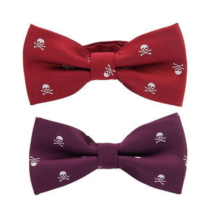 Top Sell Novelty Men's Polyester Silk Bow Tie Skull Bowtie For Tuxedoeosegal-eosegal
