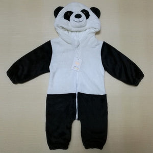 Free Shipping 2018 New Cute Animal Panda One Piece Long Sleeve Cotton Newborn Baby Romper Baby Costume Clothing Clothes set-eosegal