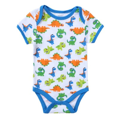 2018 Fashion Baby Romper Short Sleeves 100% Cotton Baby Pajamas Animal Cartoon Printed Newborn Baby Girls Boys Clothes Rompers-eosegal