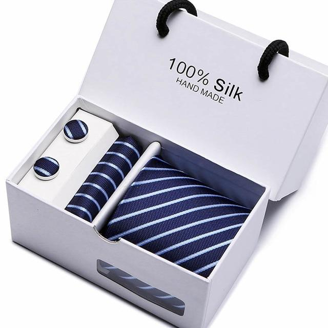 New Plaid men ties set Extra Long Size 145cm*8cm Necktieeosegal-eosegal