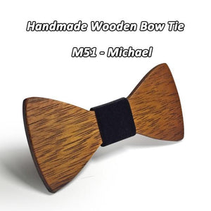 Mahoosive Brand Men's Wooden bowtie Bowknot Accessories Business Neckties wood Boweosegal-eosegal