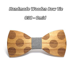 Mahoosive Novelty Solid Dot Wood Bow Tie For Men Classic Wooden Bowtieseosegal-eosegal