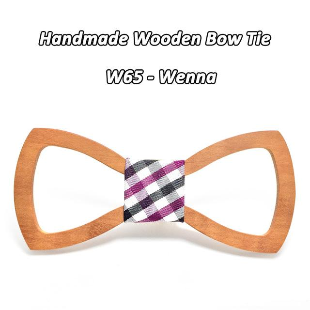 Mahoosive Wood Bow tie men Groom Marry Groomsmen Wedding Party Colorful Engravedeosegal-eosegal
