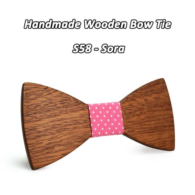 Mahoosive Fashion Men Wooden Bow Tie Set Accessories Handmade Good Wood Boweosegal-eosegal