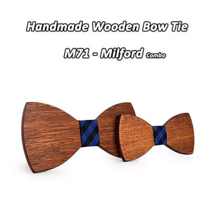 Mahoosive Cute Kids Boys Wood Bow Tie Children Butterfly Type Bow tieseosegal-eosegal