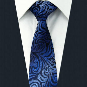 Skinny Necktie Floral Paisley Multicolor Silk Jacquard Woven Wedding Fashion Ties foreosegal-eosegal