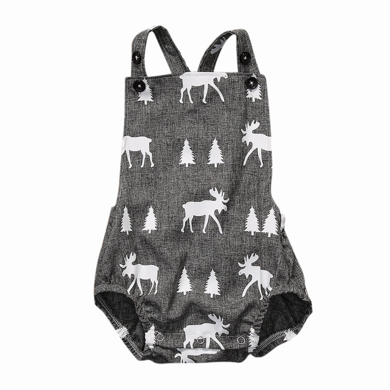 2018 Summer Cute Toddler Baby Boys Gray Deer Jumpsuit Bodysuit Outfits Sunsuit Casual Clothes-eosegal