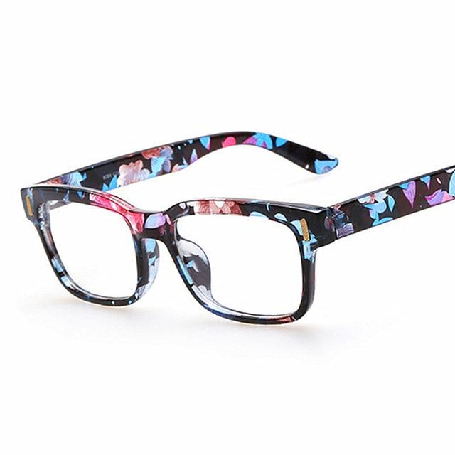 Retro Fashion Eyeglasses Men Women Square Eyeglasses Frame Unisex Optical Computereosegal-eosegal