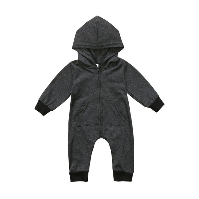 2018 Super Cool Baby Boys Girls Infant Long Sleeve Round Neck Romper Jumpsuit Hooded Streetwear Children Kids Casual Clothes-eosegal