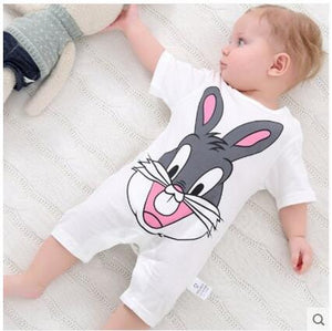 Newborn Baby clothes Summer Girl Romper Clothes Cute Bebes Summer Outfit Sunsuit Jumpsut Baby Shorts Sleeves Cotton 0-24Month-eosegal