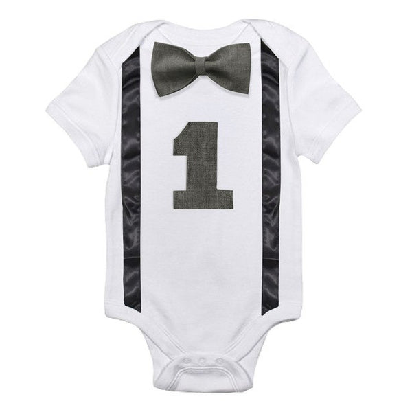 Baby Rompers First Birthday Clothes Boy Summer Wear Boys White Romper Little Clothing Kids