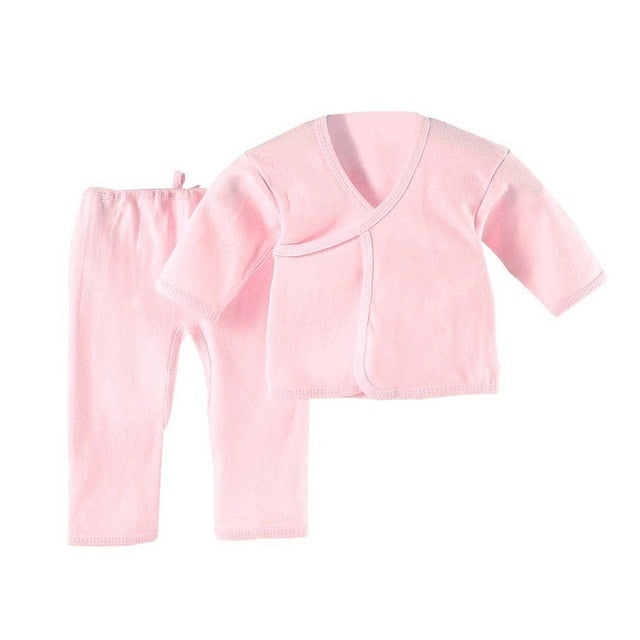 OUTAD 0-3 Months Infant Suit Comfortable Newborn Clothing Soft Pure Cotton Underwear Baby Clothing Set Suitable For All Seasons-eosegal