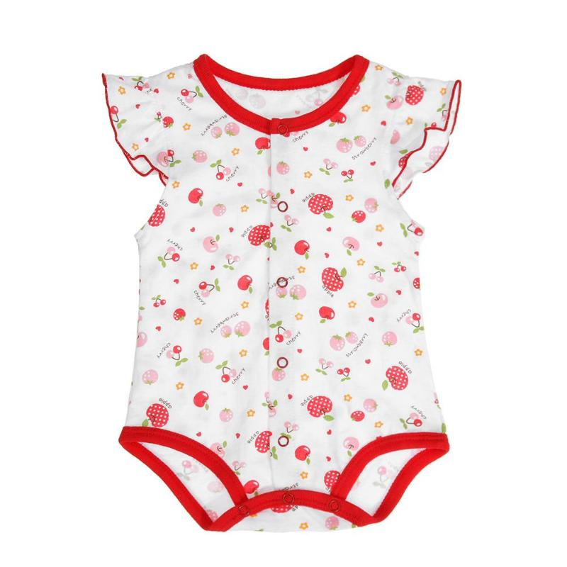 0-12M Spring Summer Baby Short Sleeve Floral Animal Print Cotton O-Neck Romper Jumpsuit 8 Types Avaliable Ideal Gift for Newborn-eosegal