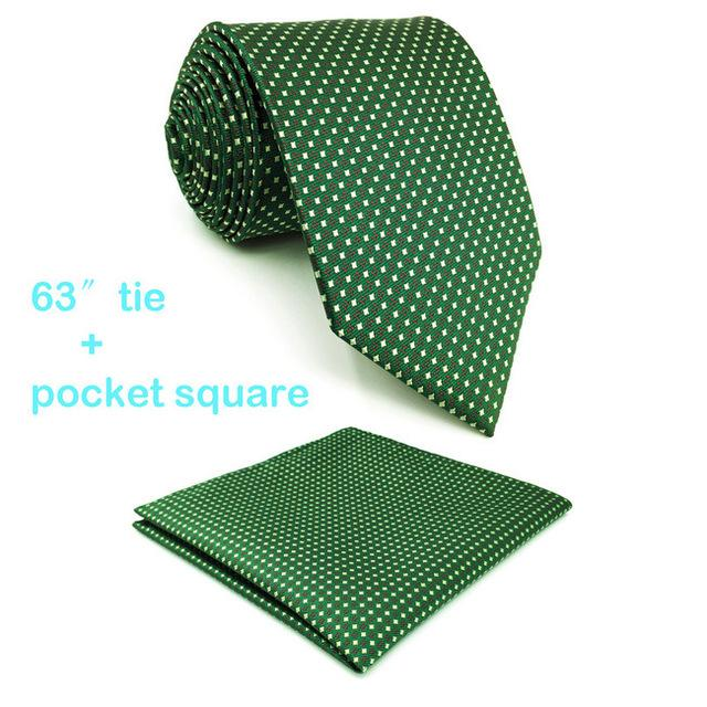 D6 Green Yellow Polka Dots Mens Necktie Silk Fashion Classic Extra longeosegal-eosegal