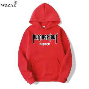 2018 New Purpose Tour Hoodies Men Justin Bieber Purpose Tour Hoodie Kanyeeosegal-eosegal