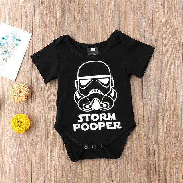 2018 New Storm Pooper Romper For Boys Girls Casual Summer Baby Boy Girl Short Sleeve Star Wars Romper Newborn Baby Clothes 0-18M-eosegal