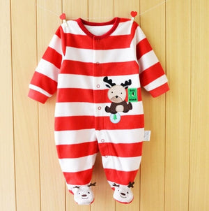 Autumn Baby Rompers Christmas Baby Boy Clothes Newborn Clothing Polar Fleece Baby Girl Clothes Roupas Bebe Infant Baby Jumpsuits-eosegal