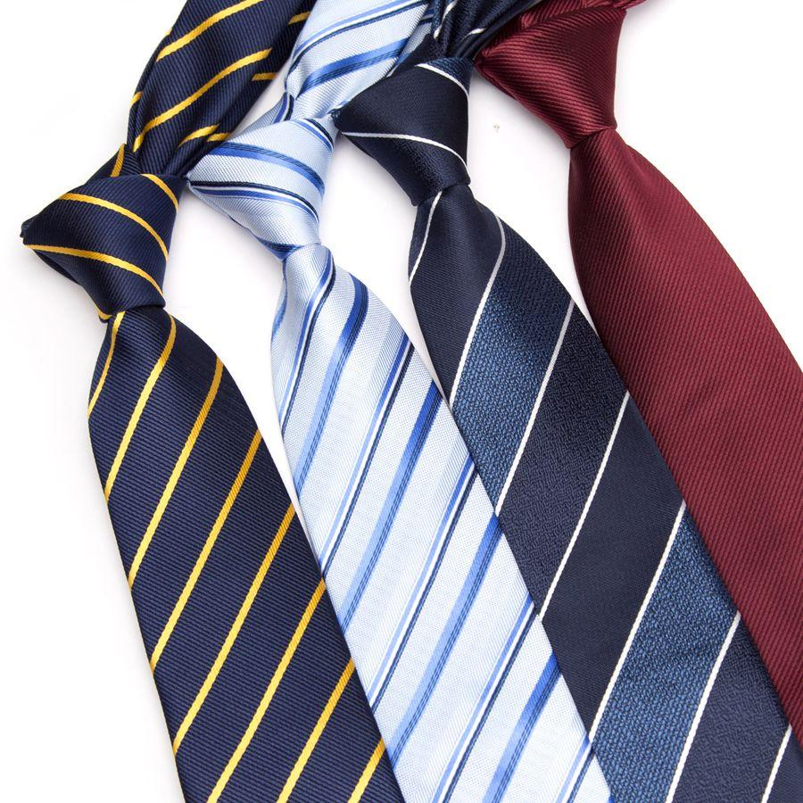Men Striped tie 7cm Business skinny ties Mens Fashion Corbatas Gravata Jacquardeosegal-eosegal