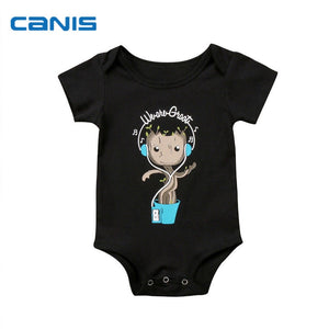 2018 Brand New Toddler Infant Newborn Baby Boy Girl Bodysuit Short Sleeve Jumpsuit Little Tree Cute Clothes Outfit Sunsuit-eosegal