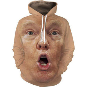 3D Hoodies Men Clothes 2018 Funny Trump Face 3D Full Printeosegal-eosegal