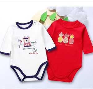 Baby 2pcs pack baby clothes baby bodysuit long sleeves baby body suits girl boy clothes children clothing 100% cotton-eosegal