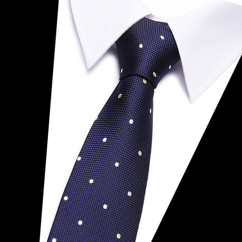 New fashion blue dot tie High Quality England style Stripe JACQUARD WOVENeosegal-eosegal
