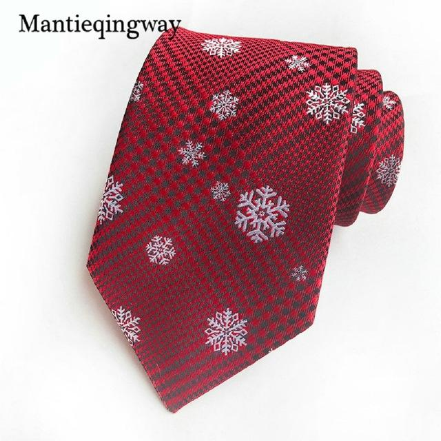 Christmas Ties for Mens Santa Claus Prinetd 8cm Necktie Corbatas Slimeosegal-eosegal